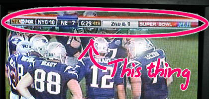 Photo of TV Screen during Super Bowl XLII